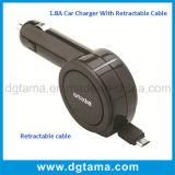 90cmの引き込み式ケーブルとの1.8A USB車の充電器の速い充満