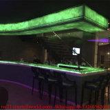 판매를 위한 오닉스 대리석 LED 대중음식점 바 가구 대중음식점 카운터를 분명히하십시오