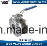 ウエファーのタイプは弁ISO5211据付パッドが付いている球フランジを付けたようになった