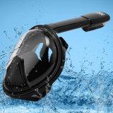 Schwarzer volles Gesichts-schnorchelnder Schablonen-Anti-Fog 270 Grad Seaview ohne Gopro Kamera-Montierungs-Cer FDA