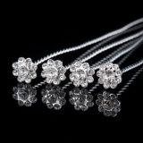 Brillante cristal de perlas boda ramo de joyas de diamantes de imitación broche de ramo