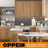 Armários de cozinha clássicos de grãos de madeira estilo americano Oppein (OP16-HPL07)