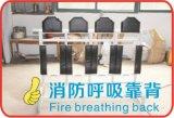 De Rugleuning van het Ademhalingsapparaat van de brand