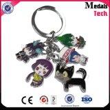 Porte-clés de l'élastique dur Cute Anime Assembly pour enfants