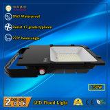 3 años de la garantía IP65 150W LED de luz de inundación con Philips LED y la fuente de alimentación de Meanwell
