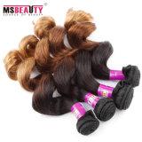 Grande cabelo do brasileiro de Ombre do Weave do cabelo humano do Virgin da qualidade
