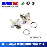 4 구멍 플랜지 SMA 여성 12.7mm PTFE 땜납 위원회 마운트