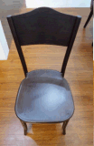 Алюминиевый стул в деревянной отделке зерна