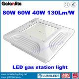 130lm/W要因価格80W 40W 60W給油所のガソリンスタンドのための産業LEDのおおいランプ