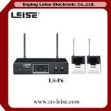 Ls-P6 de dubbele UHF Draadloze Microfoon van het Kanaal