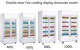 2017 nuovo dispositivo di raffreddamento commerciale della bevanda del portello scorrevole di disegno 1000L per il supermercato ed il negozio