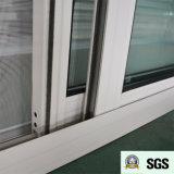 Ventana de desplazamiento de aluminio revestida del polvo blanco del color K01062