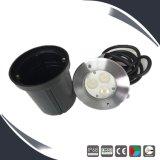 Lámpara subacuática al aire libre de la luz de la piscina de 3W IP68 LED