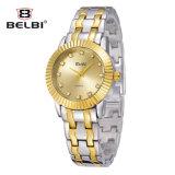 Horloge van het Kwarts van de Oppervlakte van de Tegels van de Steen van het Roestvrij staal van het Horloge van de Vrije tijd van de Dames van Belbin het Waterdichte Zonne Netto