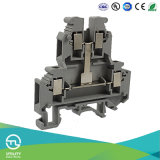 Elektrischer Doppelt-Schicht Schrauben-Verbinder der Klemmenleiste-Jut1-4/2L