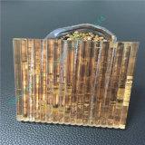 Verre feuilleté personnalisé d'or léger/glace en verre/Tempered estampée par soie/glace décorative