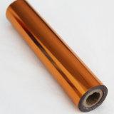 Papier d'aluminium d'arc-en-ciel de Dobonnet d'or de couleur d'estampage de clinquant de clinquant chaud orange de transfert thermique