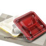 Pp.-schwarzer u. roter Wegwerfplastikmittagessen-Kasten mit Deckel