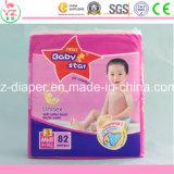 Produits doux remplaçables d'importation de l'Afrique de couche-culotte de bébé des prix bon marché