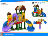 Cour de jeu en plastique de parc d'attractions de glissière de gosses (YL24487)