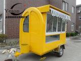 Recentste Prijs! ! ! De mobiele Elektrische Container van de Aanhangwagen van de Kar van het Voedsel van de Hamburgers van de Braadpan voor Verkoop