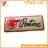 Kundenspezifisches einfaches Hight Qualitätsstickerei-Abzeichen mit Patchs gesponnenem Kennsatz (YB-HR-405)