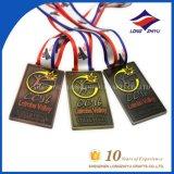 Medaille van de Sport van het Koper van de Medaille van het volleyball de Antieke Gouden Zilveren met Lint