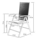 Pátio Mobília de alumínio Morden Mobiliário Poltrona Textilene de madeira (J831)