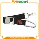 Lanière faite sur commande bon marché avec le trousseau de clés