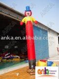 Inflable Jefe de aire bailarín Sky Man sola pierna con su logotipo