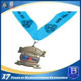 Подгонянное закручивая медаль эмали яркия блеска с талрепом сублимации