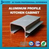 Profilo di alluminio dell'espulsione per la maniglia personalizzata dell'armadio da cucina con l'argento lucido del Matt della spazzola