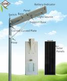 5 calle del poder más elevado LED de la garantía Ce/RoHS del año/jardín solares integrados 50W ligero