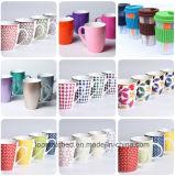 Tazze di ceramica del regalo promozionale della dogana per il latte del caffè del tè