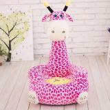 柔らかいプラシ天の動物のキリンの赤ん坊のソファーのTatamiの椅子のシート