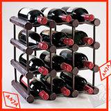 Hölzerne Form-Wein-Bildschirmanzeige-Zahnstange für Wein-Speicher