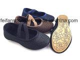 Últimos zapatos Zapatos de la niña de la lona del bebé calzado (FFBB1230-02)