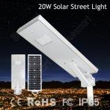 Astuto tutti in una lampada di via solare esterna solare dell'indicatore luminoso di via 20W LED