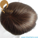 Brown Color Mono Base Hair System Toupee para homens