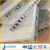 painel do favo de mel do mármore da cor do branco de 25mm para o material de construção