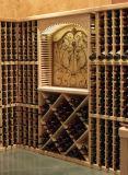 Étalage en bois de crémaillère en bois de vin pour l'art et le métier à la maison de décoration