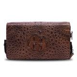 Pochette de course d'affaires de crocodile de cuir véritable de sac d'embrayage de mode d'hommes