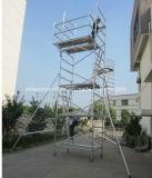 Tour en aluminium d'échafaudage qualifiée par ce sûr pour la décoration