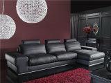 Софа золотистого качества самомоднейшая кожаный для мебели комнаты сбывания живущий