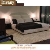現代柔らかい革様式のベッド