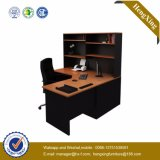 L Shape Small Size Bookshelf Desk PC Executivo para PC (HX-FCD016)