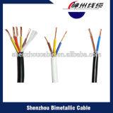 Fio elétrico isolado PVC do fio de cobre