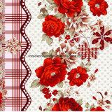 as rosas Pigment&Disperse da corda 100%Polyester imprimiram a tela para o jogo do fundamento