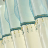 ポリエステル水溶性の刺繍の停電の窓カーテン(28W0043)