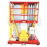 elevador hidráulico dobro de plataforma de trabalho aéreo do mastro de 12m (fabricante direto)